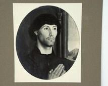 Rudolf Lesch Fine Arts Vintage Photo Print of Flemish Painting Portrait of a Man
