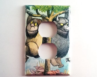 Outlet or Light Switch Plate, Wild Things, Childrens Room, Baby Nursery