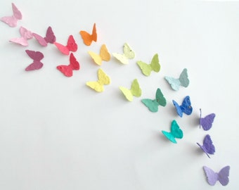 100 Seeded Paper Butterflies - Eco Friendly Nature Favors - Plant and Grow Gardening