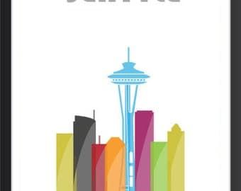 Seattle Skyline Art Deco