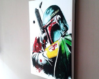 Boba Fett - Framed Canvas Art
