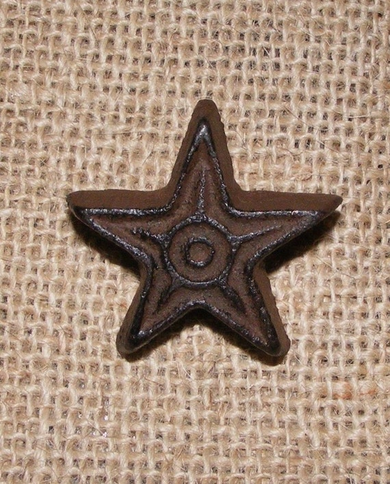 Cast iron rustic star cabinet furniture door drawer pulls for Star cabinet pulls