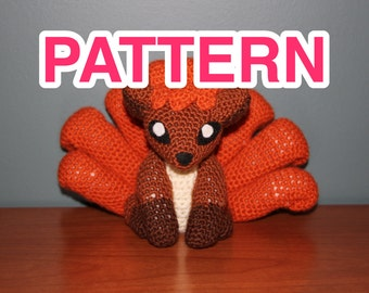 cute vulpix pokémon crochet pattern