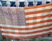 48 star flag, vintage flag, antique flag, ww2 flag