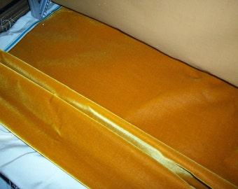 "Antique Victorian Silk Velvet Fabric Yardage Made in France 1890s "" Amber """