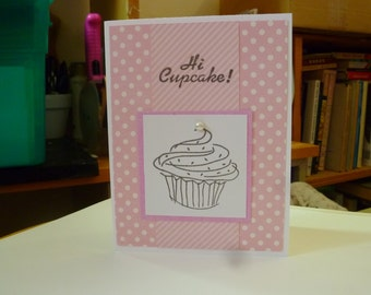 Cute pink birthday card