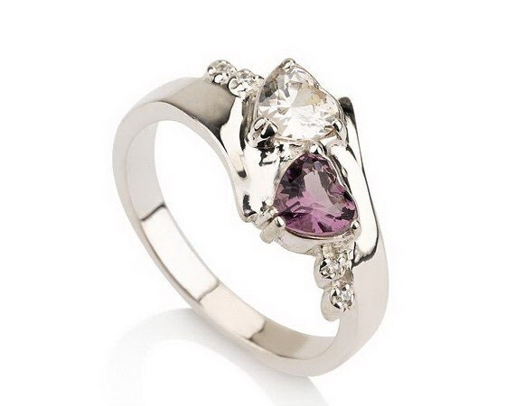 promise ring couples birthstone ring sterling by