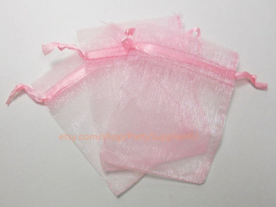 Wedding Favor Bags Coral : Organza Favor Bags 100 Coral Pink Organza Gift Bags with Drawstring ...