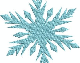 Frozen Snow Flake 2 Fill Machine Embroidery