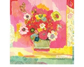Lime Glory giclee print by Kimberly Hodges, 12 x 12, 14 x 14, 20 x 20