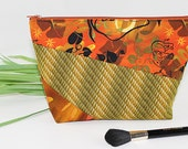 Elephant and Jungle Print Makeup or Cosmetic Bag Clutch Pouch Pencil Case or Organizer