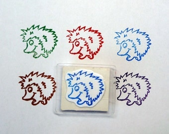 Rubber Stamp, Hedgehog, Hand Made, Wildlife Design