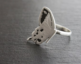 Handmade Silver Butterfly Ring. Sterling Silver ring.