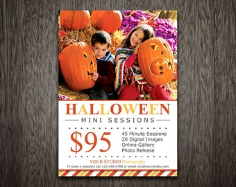 Halloween Mini Session Template - Photography Marketing Template - Photoshop Template for Photographers - Photography Template MT035