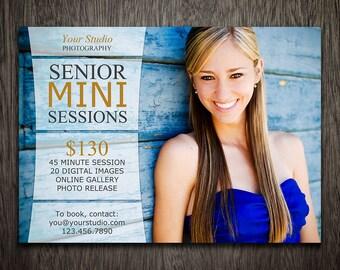 Photography Marketing Board Template - Senior Mini Session Template Flyer Photoshop PSD MT040
