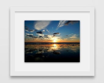 Sunset in Malibu | Sunset Photography | Gift Under 30 | Ocean Photography