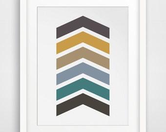 Chevron Print, Colorful Chevron Wall Art, Chevron Art, Arrow Print, Arrow Wall Art, Printable Artwork, Geometric Wall Art, Modern Home Decor
