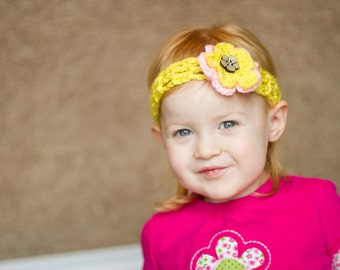 Cute Yellow Baby Headband