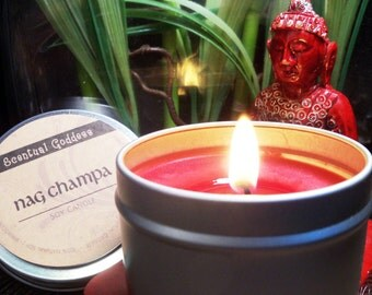 NAG CHAMPA CANDLE - Create a Zen-like Space for Your Meditations - Eastern Indian Incense Scented Meditation Candle Yoga Healing New Age