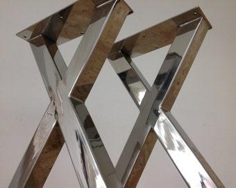 Furniture Legs Stainless Steel view x-frame table legsbalasagun on etsy