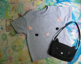 Matching Kitten Purse and Tee