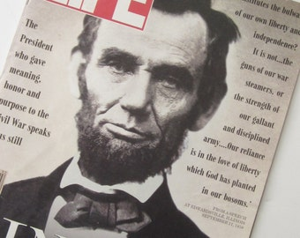 LIFE Magazine ABRAHAM LINCOLN February 1991- Lincoln Speaks to All Americans Still In Speeches