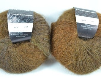 2 Partial Skeins of Multi Color by Filatura Di Crosa 5014 Brown Yarn , Same Lot, Made in Italy, Very Good Condition