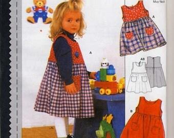 Burda 3431 Toddlers or Girls Jumper sewing pattern sizes 18m - 2-3-4-5-6