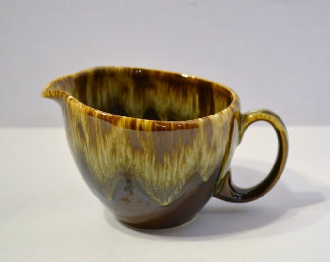 Vintage Brown Drip Glaze Creamer USA Pottery  PanchosPorch