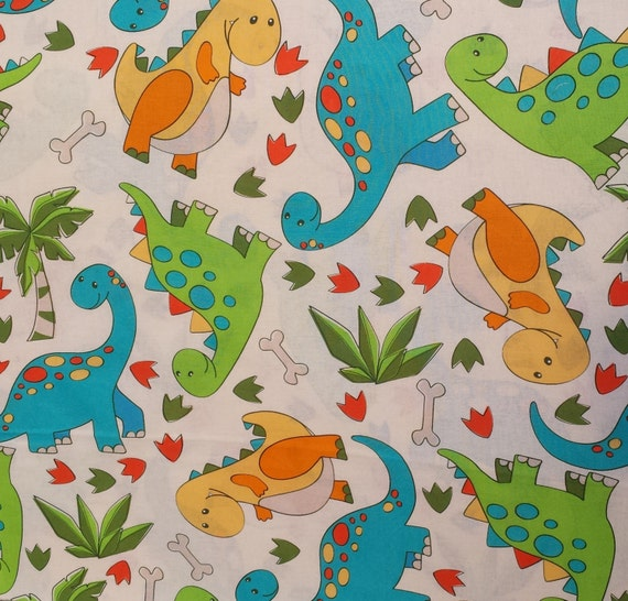 baby dinosaur fabric cute nursery fabric by jareddesigns