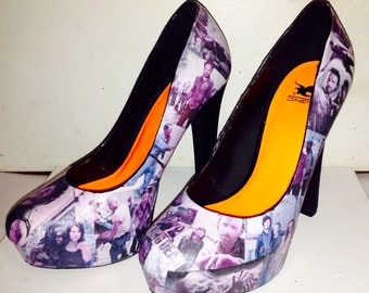 Custom made The Walking Dead shoes