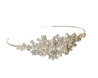 Pearl & Rhinestone Side Detail Headband