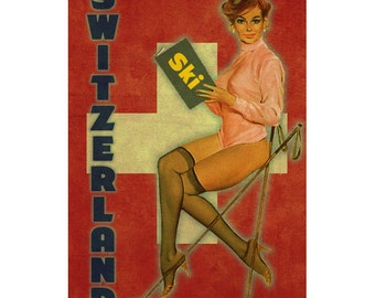 SWITZERLAND 1PS- Handmade Leather Photo Album - Travel Art
