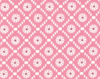 Half Yard Jubilee - Medallion Check in Pink - Cotton Quilt Fabric - from Bunny Hill Designs for Moda - 2855-11 (W1354)