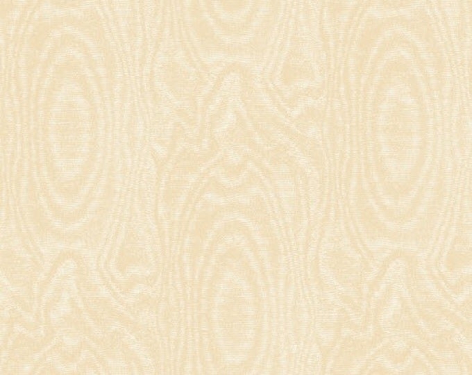 Half Yard That's A Moiré - Moire in Cream - Cotton Quilt Fabric - by Whistler Studios for Windham Fabrics (W2146)