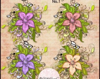 Florist Arrangement No.1 - Scrapbooking - Digital
