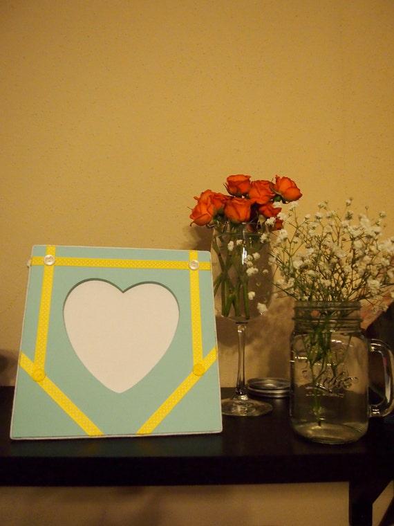 Embellished frame decorative frame blue frame heart for Room decor embellishment art 3d
