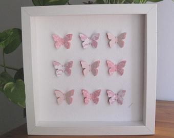 3D paper butterflies / gift/ home decoration / wall art / wall decor / butterfly / present / Valentines Day/ wedding/decor