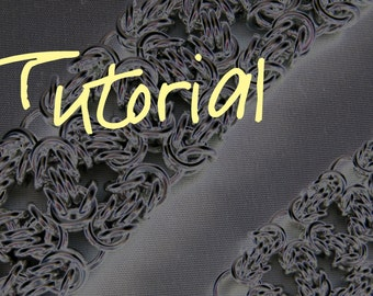 Chain Maille Tutorial Instructions - Byzy Lace