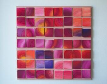 Solar Windows / Original Modern Art /  3D wood wall art