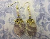 Purple Stone Monarchy Earrings