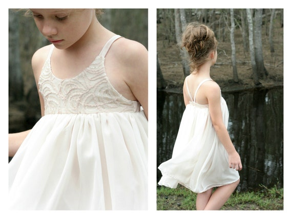 Hummingbird Dress - girls' summer dress - PDF pattern
