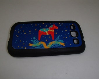 Swedish Dala Horse #232 Cell Phone Case - iPhone 4, iPhone 5, Samsung Galaxy