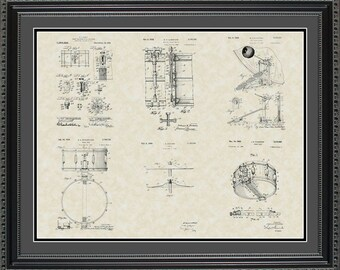 Drums Patent Collection Print Music Drummer Gift PDRUM2024