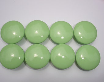 Set of 8 Hand Painted Light Green Dresser Drawer Knobs