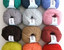 Debbie Bliss Rialto Dk double knitting wool yarn 100% extra fine merino wool superwash knitting crochet 50g ball