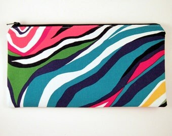Colorful Zipper Pouch, Cosmetic Bag, Pencil Pouch, Gadget Bag
