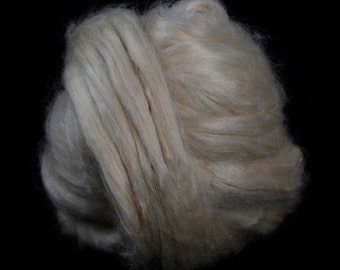 Natural Tussah Silk Top / Roving - 100g / 3.5oz