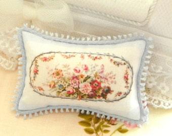 french aubusson dollhouse miniatures pillow