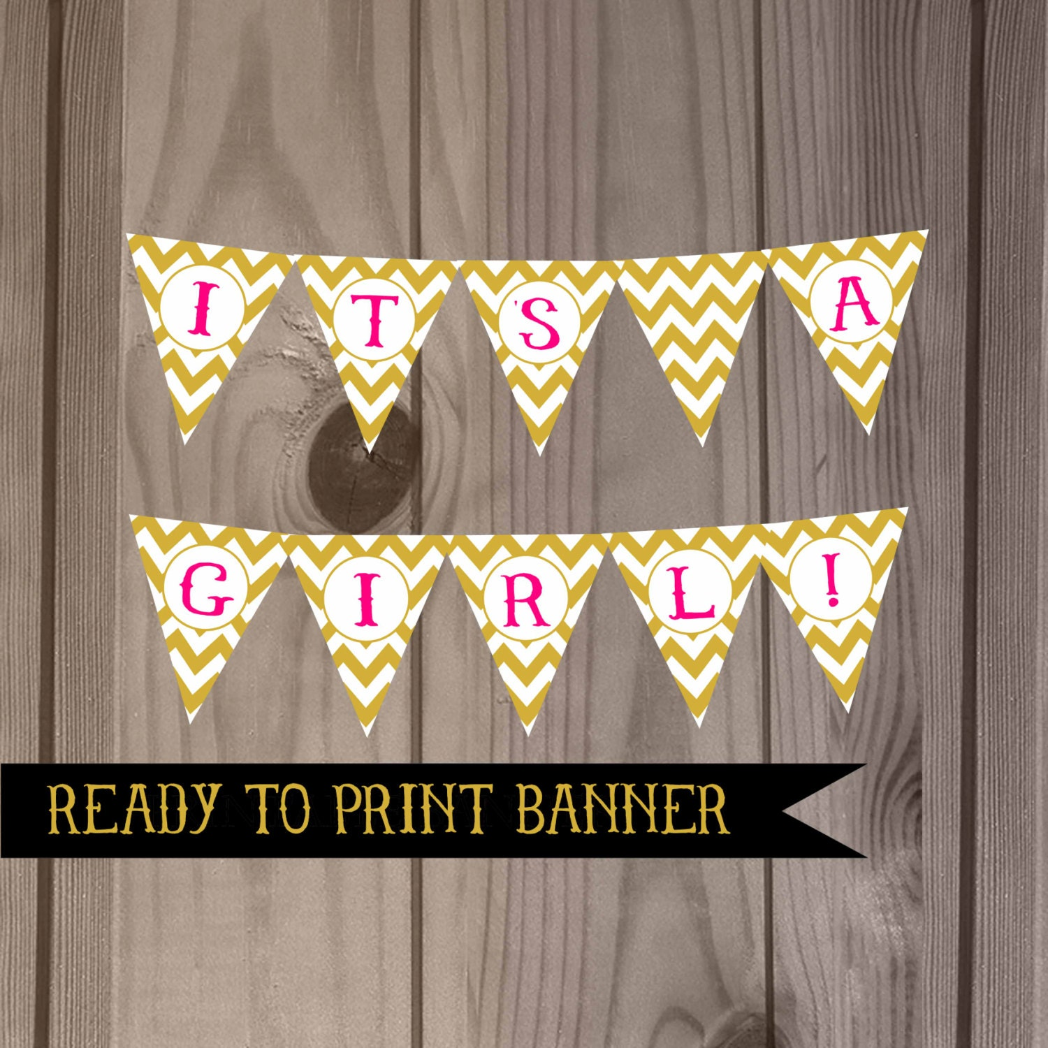 It 39 S A Girl Banner Baby Shower Banner DIY By